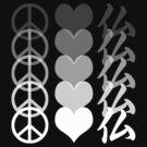 Peace Love and Buddha by buddhabubba