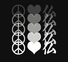 Peace Love and Buddha Unisex T-Shirt