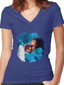 The Fault In Our Stars Design Women's Fitted V-Neck T-Shirt