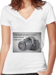 Photograph Quote Women's Fitted V-Neck T-Shirt