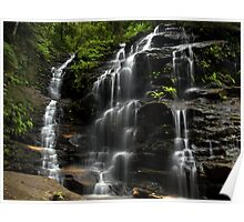 Tumbling Down - Sylvia Falls, Blue Mountains NSW Poster