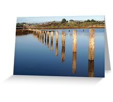 Flooded Fence Greeting Card