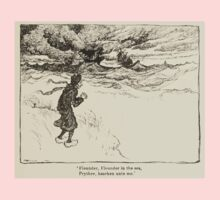 Hansel & Grethel & Other Tales by Grimm Wilelm and Jacob art by Arthur Rackham 0085 Flounder Prythee Hearken Unto Me Kids Tee