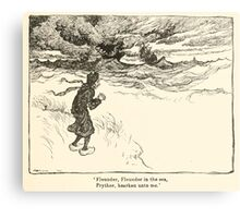 Hansel & Grethel & Other Tales by Grimm Wilelm and Jacob art by Arthur Rackham 0085 Flounder Prythee Hearken Unto Me Canvas Print
