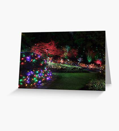 Night in the Sunken Garden (4) Greeting Card
