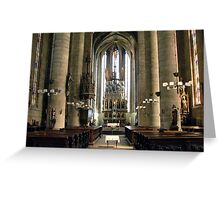 Cathedral of Saint Bartholomew - Pilsen, Czech Republic Greeting Card