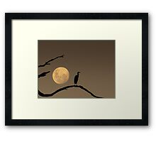 The Heron and the Moon Framed Print