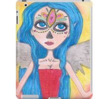 blue haired Angel art iPad Case/Skin