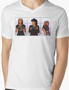 Breyley Jail Birds Mens V-Neck T-Shirt