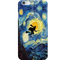 Halloween Flying Young Wizzard with broom iPhone Case/Skin