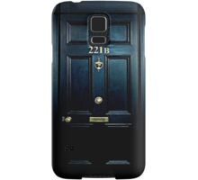 Haunted Blue Door with 221b number Samsung Galaxy Case/Skin