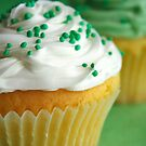 Green & white cupcakes by Framed-Photos