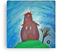 Little House On The Hill. Canvas Print