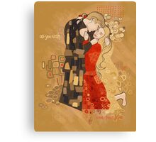 The Invention of the Kiss Canvas Print