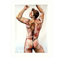 Young Lad - Back study in oils Art Print