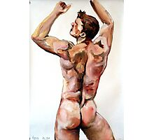 Young Lad - Back study in oils Photographic Print
