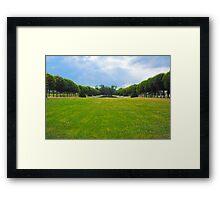 Chateau garden Framed Print