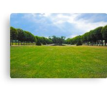 Chateau garden Canvas Print