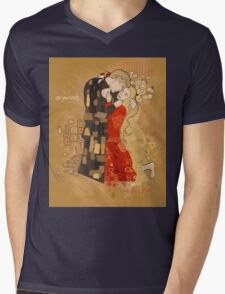 The Invention of the Kiss Mens V-Neck T-Shirt