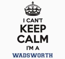 I can't keep calm I'm a WADSWORTH by icanting