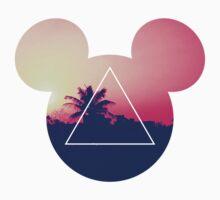 Neon Disney Mickey Ears  T-Shirt