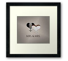 Mrs. Dress and Tux Hearts Tie Framed Print