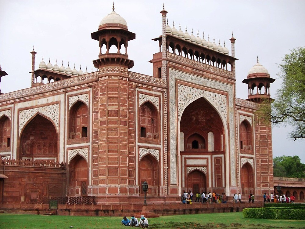 The Great Gate to the Taj Mahal by Angie Spicer