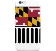 Jeep Wrangler Maryland Flag iPhone Case/Skin