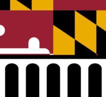 Jeep Wrangler Maryland Flag Sticker