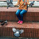 Gail the Pigeon lady by Charlie