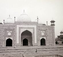 The Mosque at the Taj Mahal by Angie Spicer