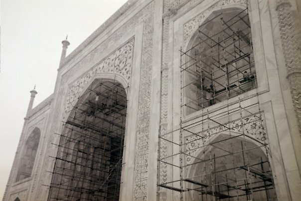 Taj Mahal Construction by Angie Spicer