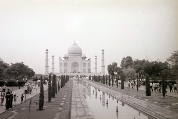 The Taj Mahal As Seen in Black and White by Angie Spicer