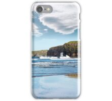 reflection of cliffs and clouds iPhone Case/Skin