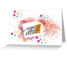 Happy Newyear Red Bubblers. Greeting Card