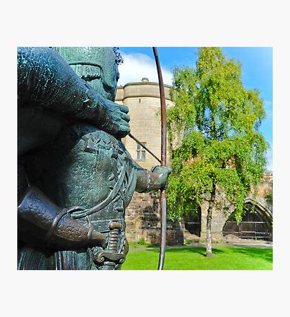 Robin Hood statue Photographic Print