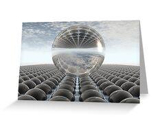 Black Chrome Diamond Sphere Greeting Card