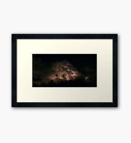 Lord of the Rings lightning Framed Print