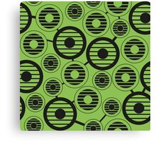 Retro pattern with circles, geometric, abstract Canvas Print