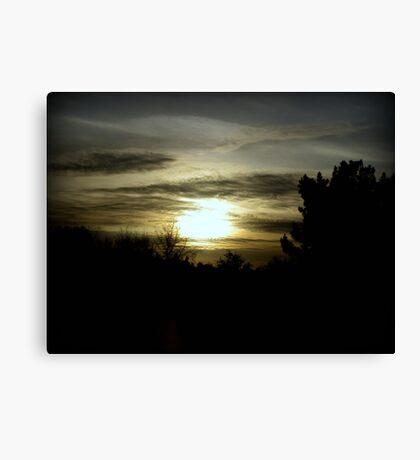 dark mysterious sunset Canvas Print