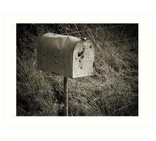 Rural Mail Box Art Print