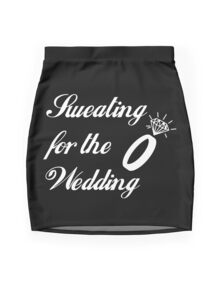 Sweating for the Wedding  Mini Skirt