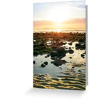 serene reflections at rocky beal beach Greeting Card