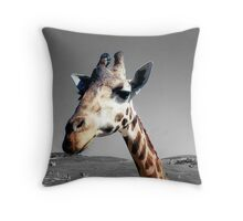 Sticking her neck out Throw Pillow