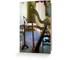 Harp in Living Room Greeting Card