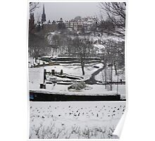 Winter Edinburgh: Ramsay Gardens Poster