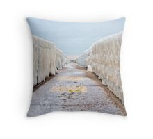 Ice Vanishing Point Throw Pillow