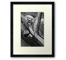 black'n'chrome cadillac Framed Print
