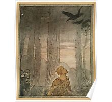 Siegfried & The Twilight of the Gods by Richard Wagner art Arthur Rackham 1911 0293 Flee, Oh, Flee From the Curse Poster