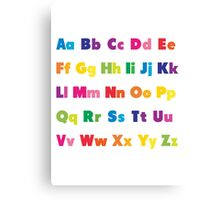 Alphabet BRIGHTS! A, B, C... Canvas Print